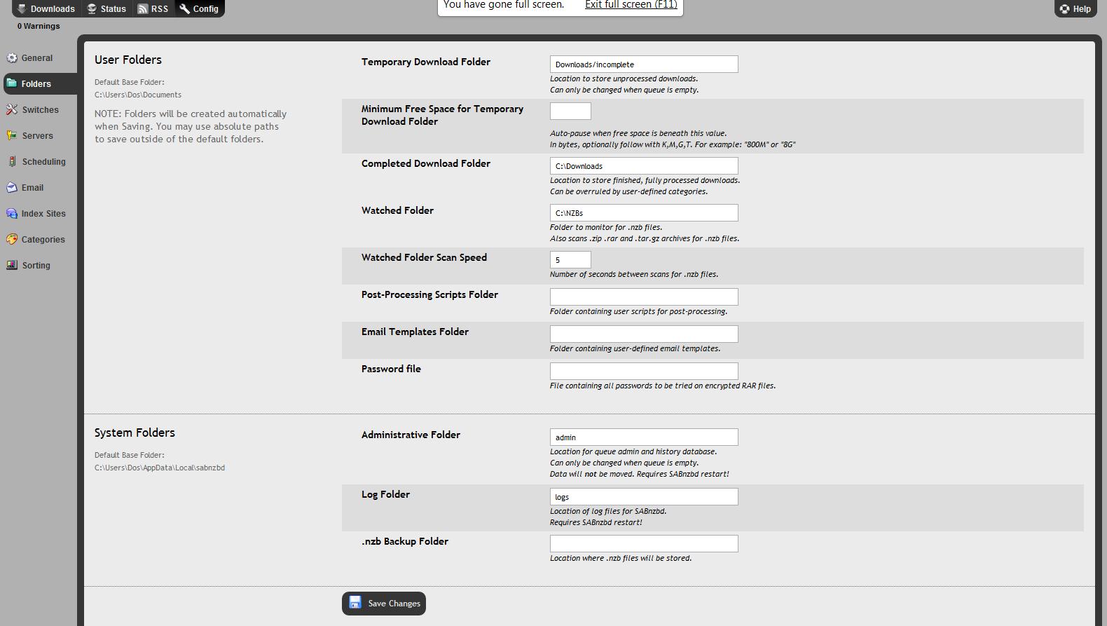 Raspberry pi default download folder
