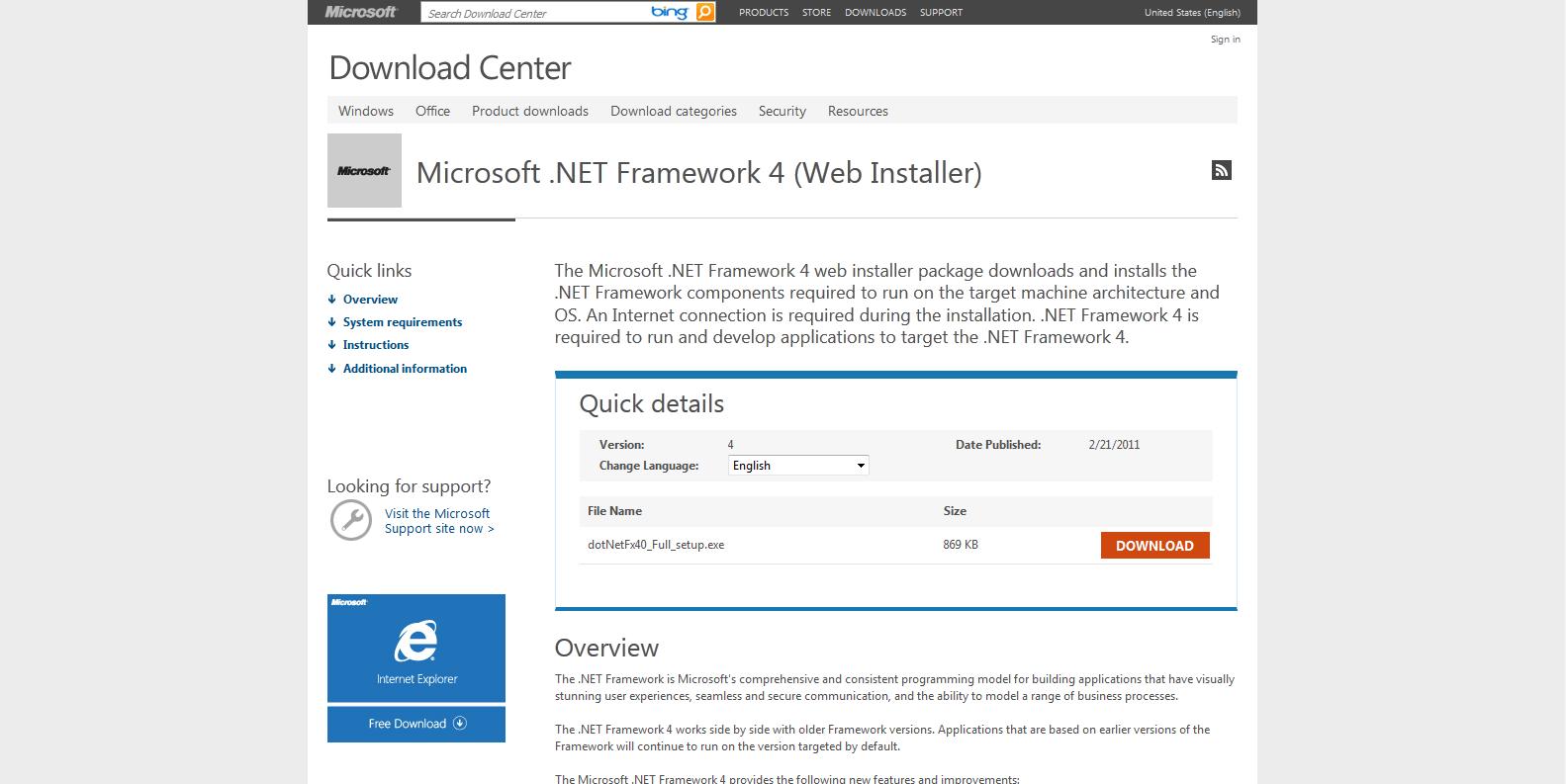 Microsoft .Net Framework 4.0 Install Guide - HTPCBuild.com