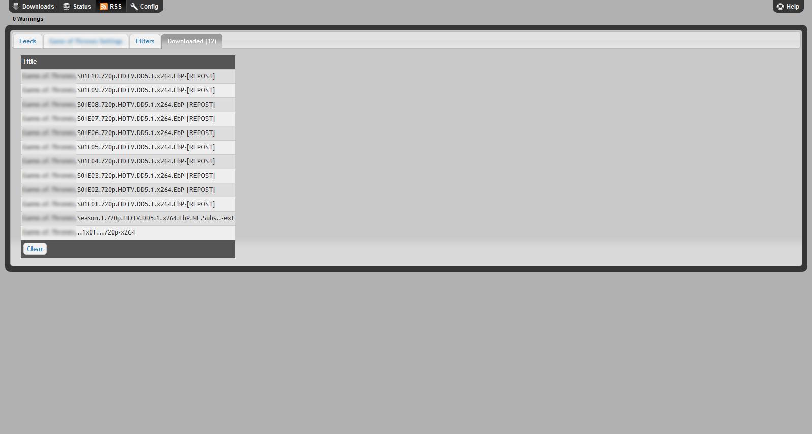 Sabnzbd RSS Feeds Configuration - HTPCBuild com
